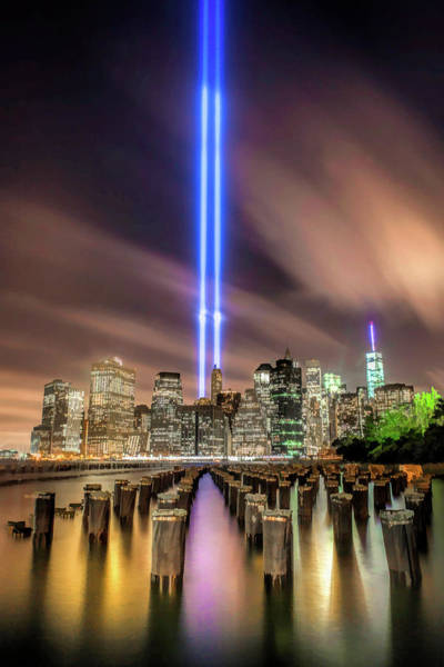 Painting - New York City Tribute In Light by Christopher Arndt