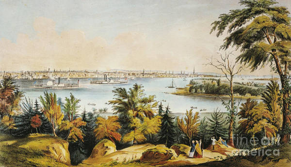Photograph - New York City View, 1849 by Granger