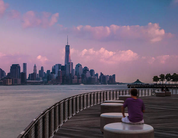 Photograph - New York City World Trade Center Skyline Sunset by Ranjay Mitra
