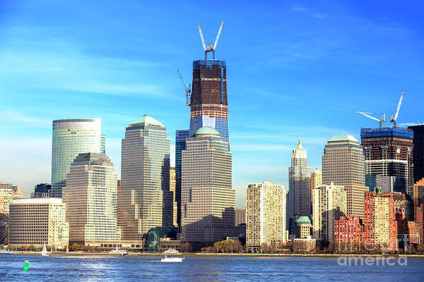 Photograph - New York City World Trade Center Rebirth Colors by John Rizzuto