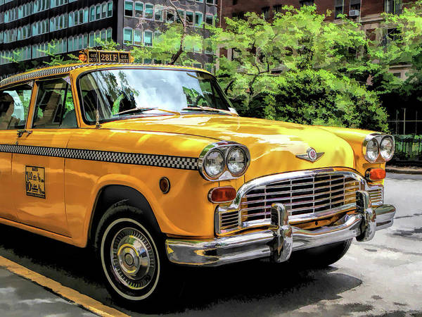 Painting - New York City Yellow Checker Taxicab by Christopher Arndt