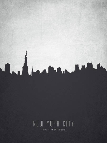 Wall Art - Painting - New York Cityscape 19 by Aged Pixel