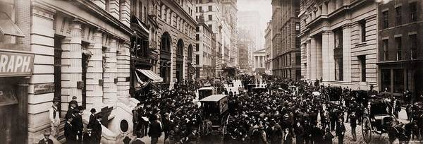 Business Cycles Wall Art - Photograph - New York Curb Exchange In 1902.  The by Everett