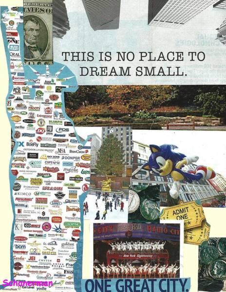 Mixed Media - New York Dreams by Susan Schanerman