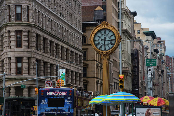 Photograph - New York Fifth Avenue Clock Flatiron Building by Toby McGuire