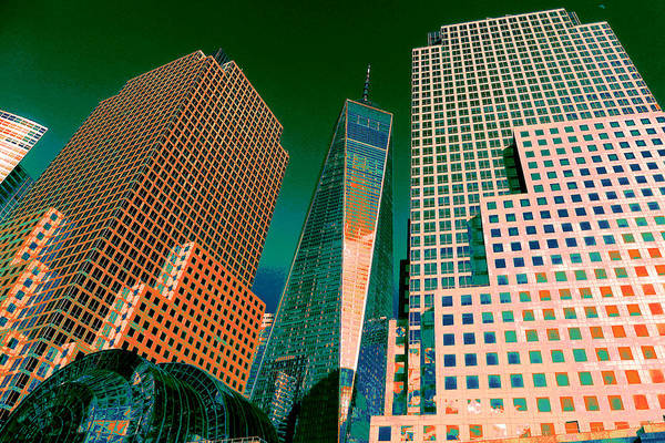 Photograph - New York Freedom Tower - Digital Artwork by Peter Potter