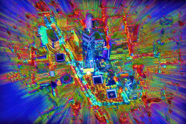 Manhattan Skyline Painting - New York Freedom Tower Lower Manhattan 1 by Tony Rubino