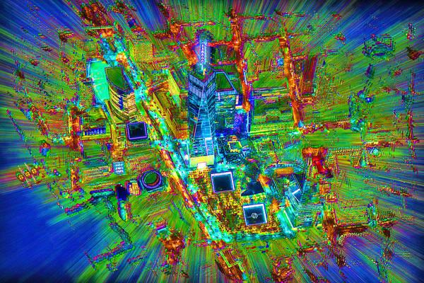 Manhattan Skyline Painting - New York Freedom Tower Lower Manhattan 2 by Tony Rubino