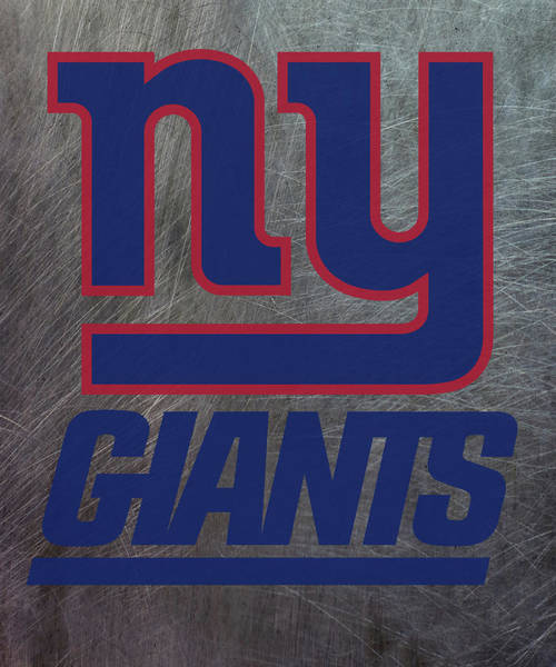 Mixed Media - New York Giants On An Abraded Steel Texture by Movie Poster Prints