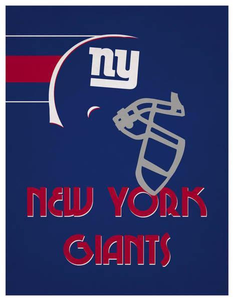 Wall Art - Mixed Media - New York Giants Team Vintage Art by Joe Hamilton
