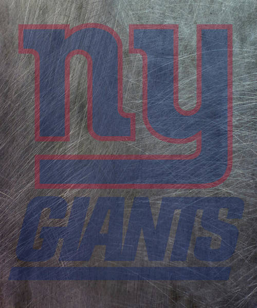 Mixed Media - New York Giants Translucent Steel by Movie Poster Prints