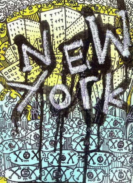New York Graffiti Scene Art Print