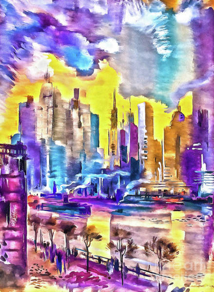 Painting - New York Is The City's Colorful by Odon Czintos