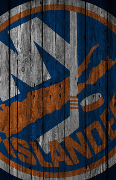 Iphone Case Digital Art - New York Islanders Wood Fence by Joe Hamilton