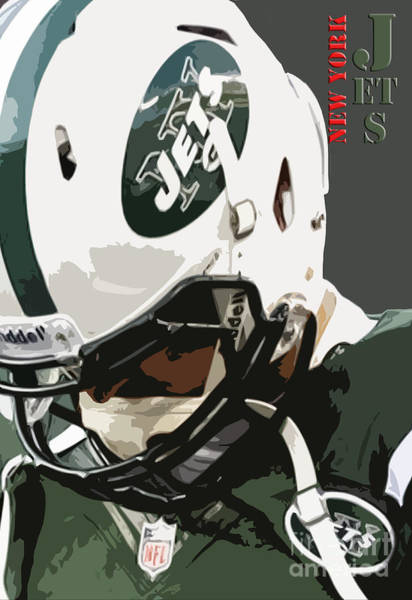 Wall Art - Painting - New York Jets Football Team And Original Typography by Drawspots Illustrations