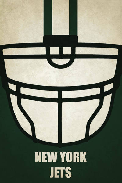 New York Jets Wall Art - Painting - New York Jets Helmet Art by Joe Hamilton