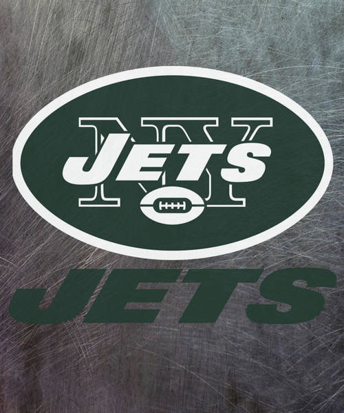 Mixed Media - New York Jets On An Abraded Steel Texture by Movie Poster Prints
