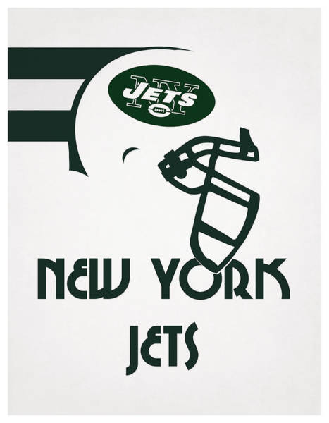 New York Jets Wall Art - Mixed Media - New York Jets Team Vintage Art by Joe Hamilton