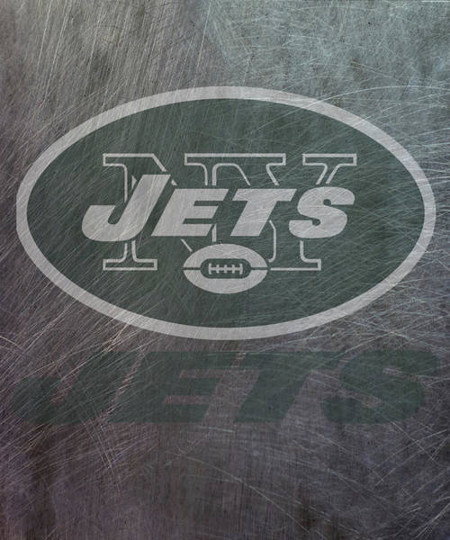 Mixed Media - New York Jets Translucent Steel by Movie Poster Prints