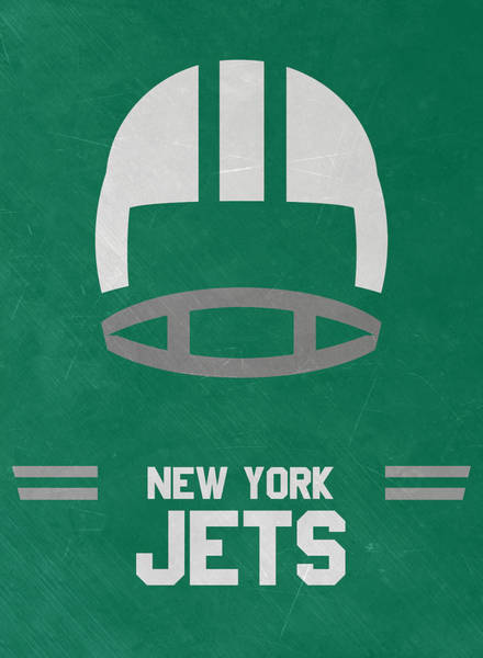 New York Jets Wall Art - Mixed Media - New York Jets Vintage Art by Joe Hamilton