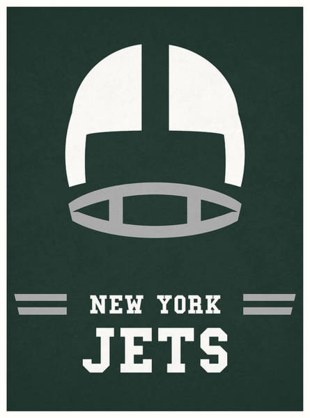 New York Jets Wall Art - Mixed Media - New York Jets Vintage Nfl Art by Joe Hamilton