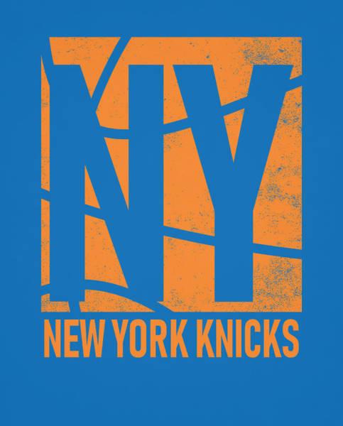 Wall Art - Mixed Media - New York Knicks City Poster Art by Joe Hamilton