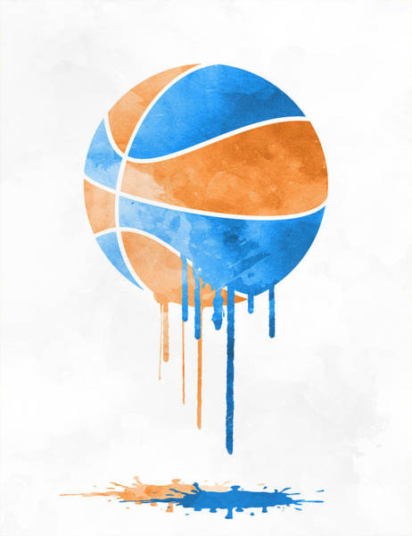 Wall Art - Mixed Media - New York Knicks Dripping Water Colors Pixel Art by Joe Hamilton