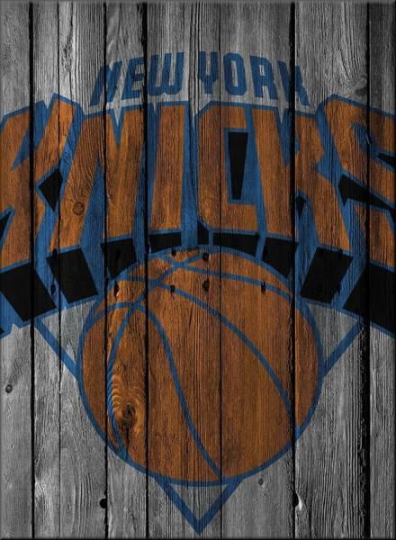 Hoop Photograph - New York Knicks Wood Fence by Joe Hamilton
