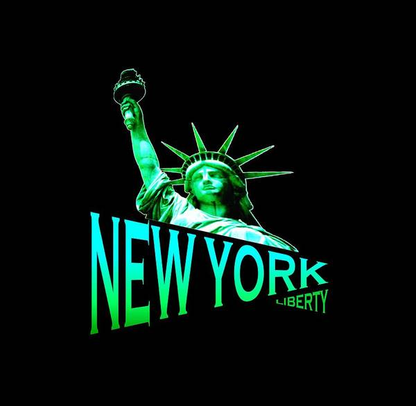 Clothing Design Mixed Media - New York Liberty Design by Peter Potter