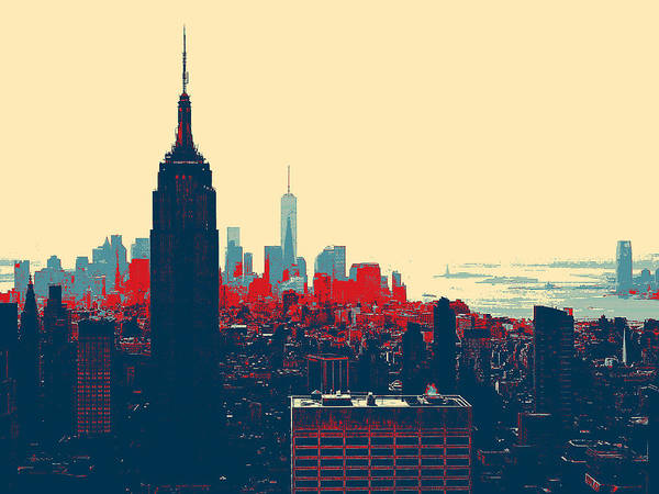 Photograph - New York Manhattan by Celestial Images