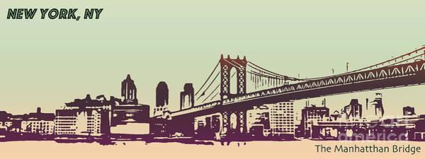 Photograph - New York Manhattan Bridge by PorqueNo Studios