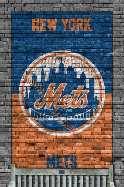 Outfield Wall Art - Painting - New York Mets Brick Wall by Joe Hamilton