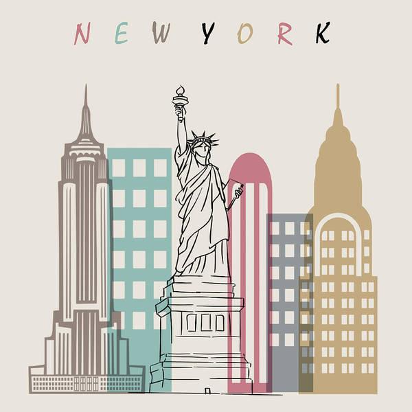 Wall Art - Digital Art - New York  Minimal  by Mark Ashkenazi