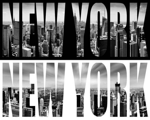 Iconic Digital Art - New York New York by Az Jackson