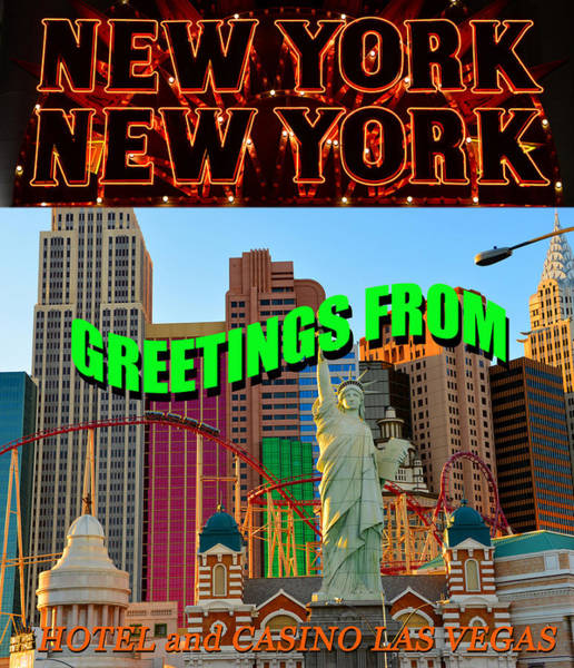 Wall Art - Photograph - New York New York Las Vegas Pc by David Lee Thompson