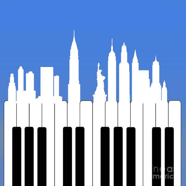 Pianos Painting - New York New York by Mark Ashkenazi