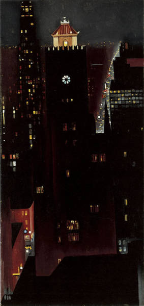 Photograph - New York, Night, by Georgia O'keeffe
