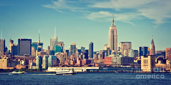 Wall Art - Photograph - New York Panorama by Delphimages Photo Creations