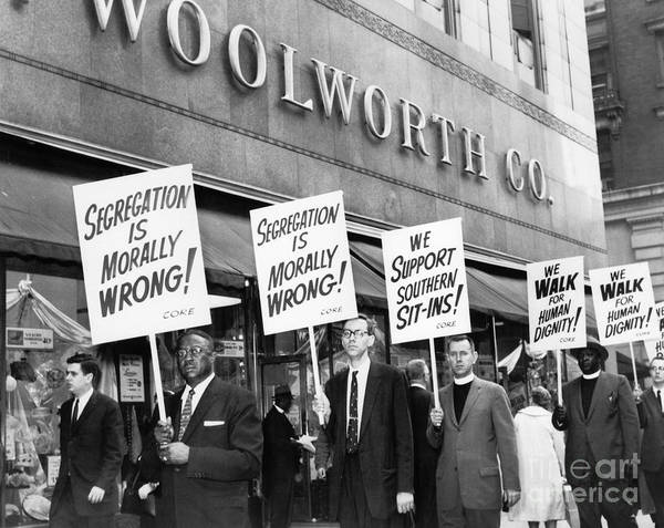 Photograph - New York: Picket Line, 1960 by Granger