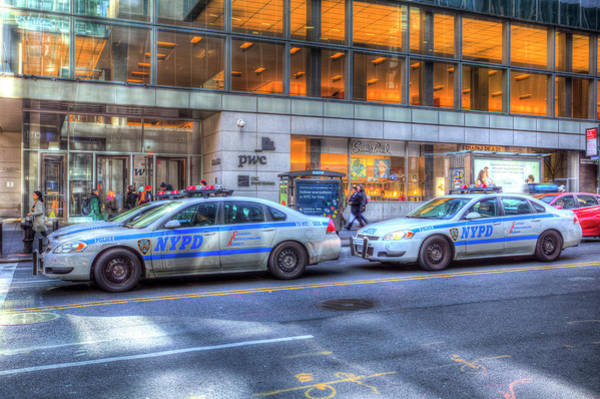 Wall Art - Photograph - New York Police Department Cars by David Pyatt