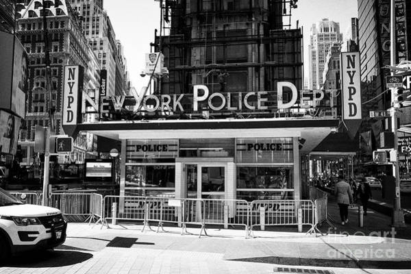 Wall Art - Photograph - new york police department station Times Square New York City USA by Joe Fox