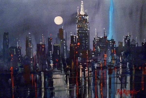City Scene Painting - New York by Ryan Radke
