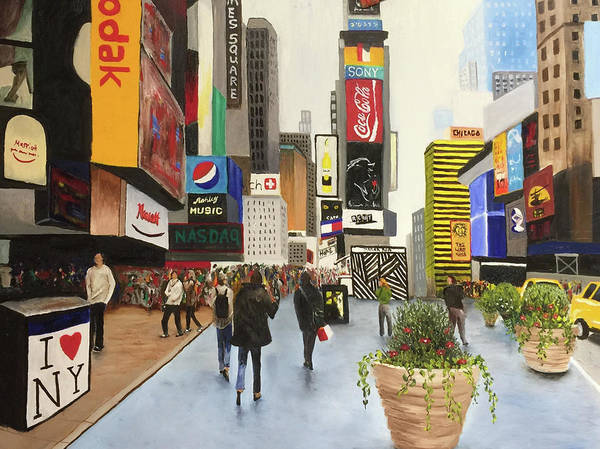Time Square Painting - New York by Scott Hoke