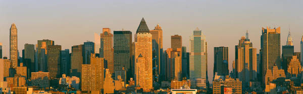 N.c Wall Art - Photograph - New York Skyline At Sunset by Panoramic Images
