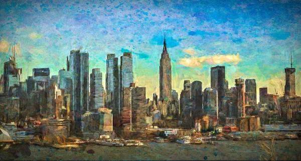 Digital Art - New York Skyline by Jacqueline Sleter