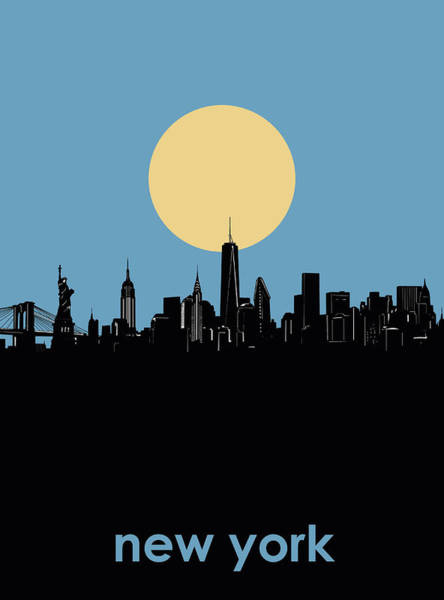 Wall Art - Digital Art - New York Skyline Minimalism 4 by Bekim M