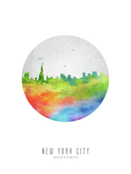 Wall Art - Digital Art - New York Skyline Usnyny20 by Aged Pixel