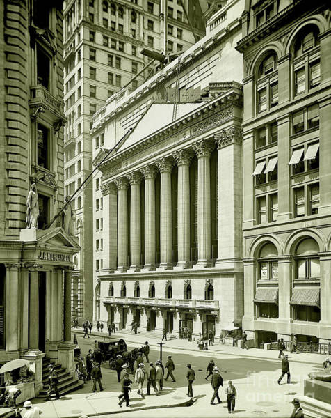 Wall Art - Photograph - New York Stock Exchange Under Construction 1903 by Jon Neidert