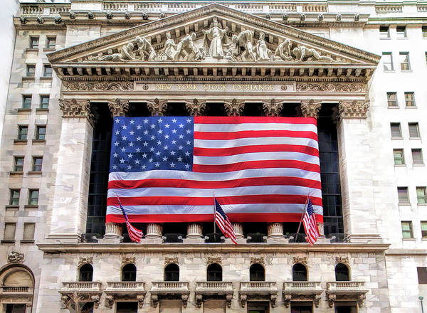 New York Stock Exchange Flag Art Print