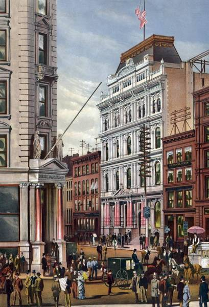 Business Cycles Wall Art - Photograph - New York Stock Exchange In 1882 by Everett